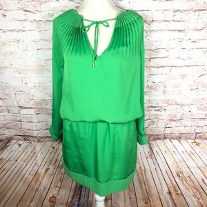 Diane Von Furstenburg Green pleated dress